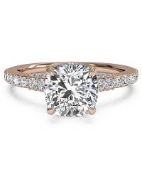 cushion solitaire engagement rings cushion cut engagement rings