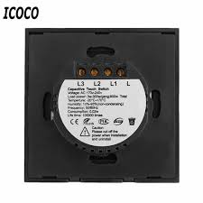 touch l on off plug in control eu plug 1 2 3 circuit touch screen switch 1 2 3 gang 1 remote