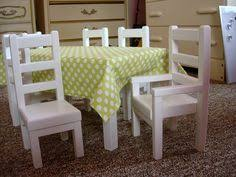 american doll table and chairs diy 18 inch doll table and chairs if you like the guidecraft doll