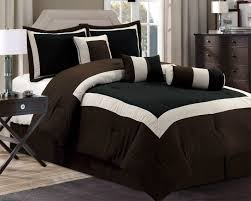 new chocolate brown black bedding hampton comforter set queen king
