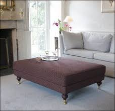 Ottoman Legs With Casters by Rectangular Ottoman Bench Covered In Vintage Rug Turned Legs With