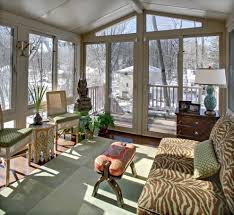 saddle decor sunroom eclectic with green and brown painted