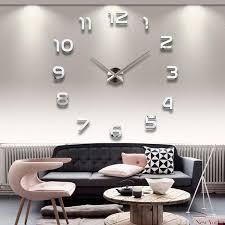 Wohnzimmer Wanduhren Modern Diy Wanduhr 3d Moderne Spiegel Aufkleber Uhr Für Büro Zimmerdeko