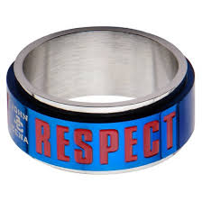 ring spinner men s cena hustle loyalty respect stainless steel