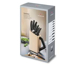 swiss kitchen knives swiss classic cutlery block 8 pieces in beech 6 7173 8