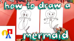 how to draw a mermaid youtube