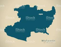 Map Of Michoacan Mexico by Modern Map Michoacan Mexico Mx Illustration Stock Vector Art