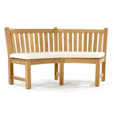 sunbrella curved bench cushion westminster teak outdoor furniture