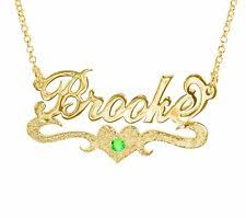 gold plated name necklace gold name necklace ebay
