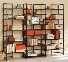 Tall Bookcase With Ladder by Metal Book Shelves Pulliamdeffenbaugh Com