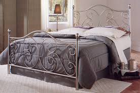 comstock silver nickel finish metal bed by largo