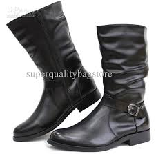 s boots calf size pointed toe s shoes mid calf boots buckle wrinkles side