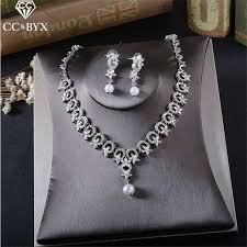 necklace earring bracelet set images 2018 cc jewelry bridal jewelry sets wedding necklace earring jpg