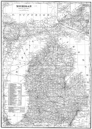 Detailed Map Of Michigan State And County Maps Of Michigan Mdhhs County Offices Map Of