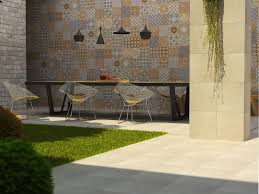 flooring exterior design with interceramic tile floor and wall