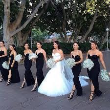 black bridesmaid dresses instagram post by weddings onpoint weddingsonpoint black