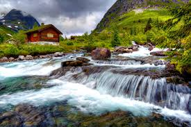 Beautiful Mountain Houses by Cabin Tag Wallpapers Cabin Creek Creeks Cabins Rivers Mountain