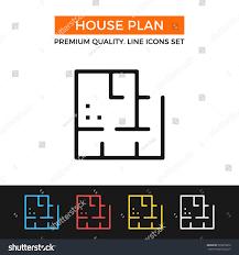 vector house plan icon blueprint planning stock vector 523676620