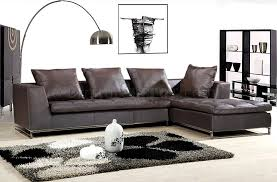 brown black or ivory full leather sectional sofa w tufted seat