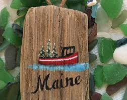 boat ornament etsy