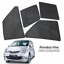 jenis kereta mitsubishi custom fit oem sunshades sun shades for perodua viva 4pcs