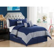 Blue Striped Comforter Set Comforter Set Navy Blue