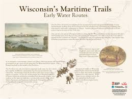 Wisconsin River Map by Depere Lock Maritime Trails Marker Wi Shipwrecks