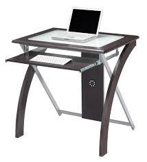 Small Glass Computer Desk Sleek Clear Glass Computer Desk Or Laptop Table Modern Desks Small