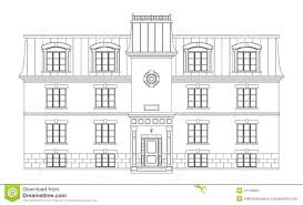House Drawing Contemporary House Drawing Stock Illustration Image 41745662