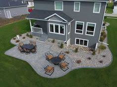 Backyard Paver Ideas Paver Patio With Firepit And All Around Sitting Wall Backyard
