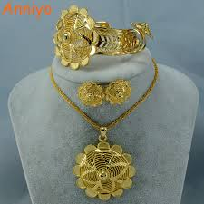 accessories ring necklace images Habesha gold color jewelry set popular ethiopian style necklace jpg