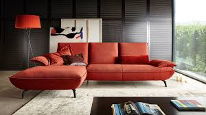 canapé d angle orange canapé d angle contemporain en cuir en tissu fly by tamara