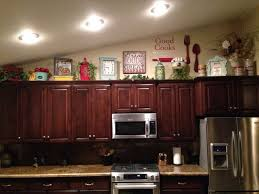 Above Kitchen Cabinet Decorations Catchy Decorating Ideas For Above Kitchen Cabinets Top 25 Ideas