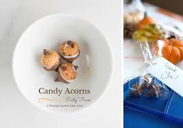 thanksgiving favor idea acorn treats make taste