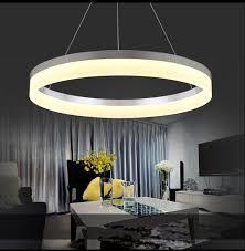 lustre chambre postmoderne simple acrylique lustre anneau personnalisé personnalité