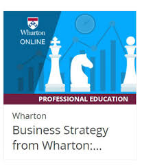 certification course by wharton online on edx business strategy