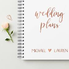 wedding planner guide book personalised gold wedding plans book by martha brook