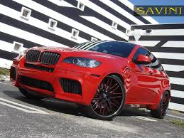 red bmw x6 savini wheels