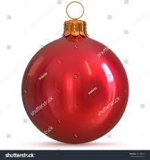 New Years Eve Hanging Decorations by Christmas Ball Bauble Decoration Red New Stock Illustration