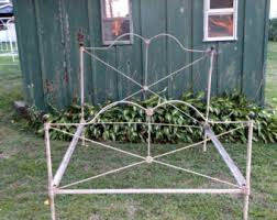 Antique Cast Iron Bed Frame Antique Iron Bed Etsy