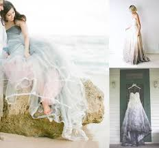 dip dye wedding dress ombre and dip dye wedding dresses fly away