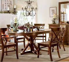 Benchwright Extending Pedestal Dining Table Alfresco Brown - Pottery barn dining room table