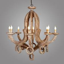 French Wooden Chandelier Wooden Chandelier Distressed Editonline Us