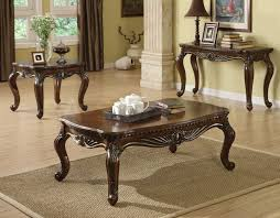 Round Dark Wood Coffee Table - coffee table round dark wood and end sets grey tables glass se