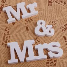 Decorating Wooden Letters 1pc Funny Table Alphabet Decoration Wooden Letters Mr U0026 Mrs