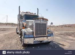 kenworth stock kenworth semitrailer truck tractor in oman middle east stock