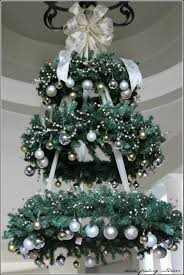 hanging christmas tree wreath chandelier this would be so