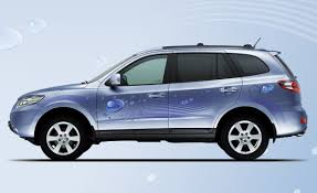 suv of hyundai hyundai santa fe blue hybrid auto shows car and driver