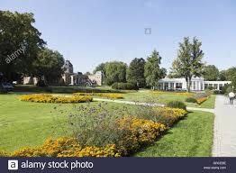 Moritzklinik Bad Klosterlausnitz Flowerbeds In The Spa Gardens Of Bad Oeynhausen Stock Photo