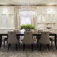 Baker Dining Room Table And Chairs Black Dining Room Walls With Gold Candlesticks Transitional